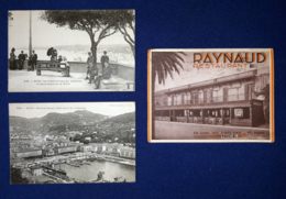 Francia 3 Postal Cards - Nice VF/F - Nice