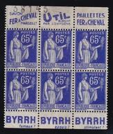PUBLICITE: TYPE PAIX 65C BLEU 3 BANDES FER A CHEVAL-UTIL/BYRRH-fameux-exquis-stimulant NSG ACCP993-998 994-989 995-990 - Advertising
