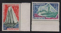 Polynesie - N°40 + N°41 - ** Neufs Sans Charniere - Bateaux - Cote 16.20€ - Neufs