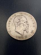 5 Lire Argento Vittorio Emanuele Secondo 1876 Zecca Roma - 1861-1946 : Reino