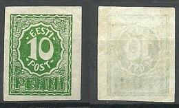 FAUX Estonia Estland 1919 Michel 8 FAKE Fälschung * - Estland