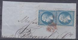 France, Oblitérations - Yvert N° 22 Oblitéré Roulette De Petits Points Sur Fragment - Marcophilie (Timbres Détachés)