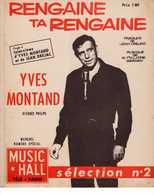 61 80 YVES MONTAND PARTITION RENGAINE TA RENGAINE DRÉJAC PHILIPPE GÉRARD NUMÉRO SPÉCIAL MUSIC HALL 2 INTERVIEWS 1962 - Muziek & Instrumenten