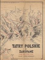 POLOGNE - ANCIENNE CARTE TOPOGRAPHIQUE Avec Indication Notamment De SENTIERS DE RANDONNÉE D'ÉTÉ. - Cartes Topographiques