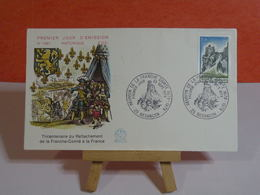 Rattachement Franche Comté à La France - 25 Besançon - 23.9.1978 FDC 1er Jour N°1091 - Coté 1,50€ - FDC