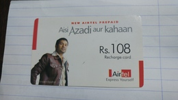 India-airtel Aisi Azadi Aur Kahaan(57)(rs.108)(new Delhi)(5069189426295500)(look Out Side)used Card+1 Card Prepiad Free - Indien