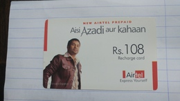 India-airtel Aisi Azadi Aur Kahaan(57a)(rs.108)(new Delhi)(5766453583216518)(look Out Side)used Card+1 Card Prepiad Free - India