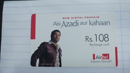 India-airtel Aisi Azadi Aur Kahaan(57b)(rs.108)(new Delhi)(0571294956783794)(look Out Side)used Card+1 Card Prepiad Free - Inde