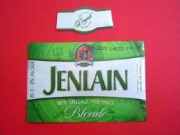 ETIQUETTE BIERE JENLAIN / FRANCE - Bière