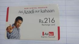 India-airtel Aisi Azadi Aur Kahaan(58)(rs.216)(new Delhi)(5024394201298971)(look Out Side)used Card+1 Card Prepiad Free - Inde