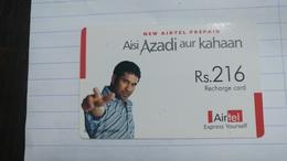 India-airtel Aisi Azadi Aur Kahaan(58a)(rs.216)(new Delhi)(5038381821232395)(look Out Side)used Card+1 Card Prepiad Free - Inde