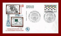 Enveloppe 1er Jour * Cinquantenaire De La Television Francaise * Paris 1985 - Andere