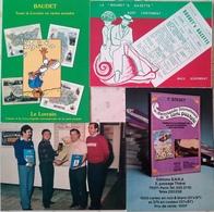 Publicité Livre Cartophile Baudet (3 CP) Boubet Gazette 1981 (1 CP) Yves Carmeille François Baudet - Pubblicitari