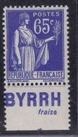 PUBLICITE: TYPE PAIX 65C BLEU BYRRH-fraise NEUF* ACCP960 C10E - Advertising
