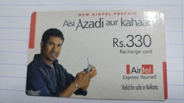 India-airtel Aisi Azadi Aur Kahaan(59)(rs.330)(new Delhi)(4605148177335275)(crooked)used Card+1 Card Prepiad Free - India