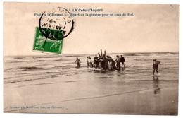 CPA La Côte D'Argent 33. Pêche à La Pinasse. Départ Pour Un Coup De Filet - Autres Communes