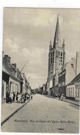 Poperinghe.  Rue De Cassel Et Eglise Notre Dame - Poperinge