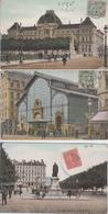 Lot De 7 CPA Lyon - Editeur L. V. & Cie - Les Halles / L'université / Le Parc : Les Serres / Statue De Jacquard ... - Autres