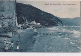 Saluti Da Laigueglia-Stab.Bagni Aquila-Vg Il 1922-Integra E Originale Al 100% An2 - Savona