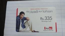 India-airtel Aisi Azadi Aur Kahaan(60)(rs.335)(new Delhi)(0713381653423554)(crooked)used Card+1 Card Prepiad Free - India