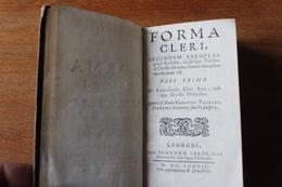 FORMA CLERI    1692  En Latin  Les 3 Tomes En Un Volume - Libros, Revistas, Cómics