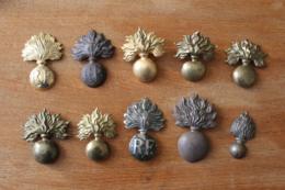 Lot De 10 Grenades  De Coiffe Giberne Differentes - 1914-18