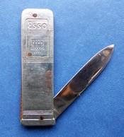 - Couteau. Canif - Ancien Petit Couteau ESSO - Pompe à Essence - - Knives