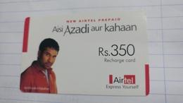 India-airtel Aisi Azadi Aur Kahaan(61)(rs.350)(new Delhi)(5973265047432967)(look Out Side)used Card+1 Card Prepiad Free - Inde