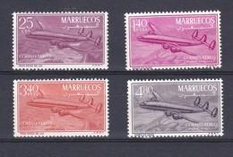 MARRUECOS AÑO 1956 CUATRIMOTOR CONSTELACION EDIFIL Nº 9 A 12 * * (NUEVOS) AVION-PLANE - Marruecos Español