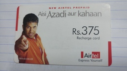 India-airtel Aisi Azadi Aur Kahaan(62)(rs.375)(new Delhi)(0764381912159272)(look Out Side)used Card+1 Card Prepiad Free - Indien