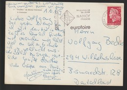 M 1092) MWSt Nancy France 1969: Foire Et Salons Internationaux, Oktaeder Körper Geometrie Mathematik - Künste