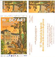 BAZOT : Carte Invitation Salon BD ART 2017 - Tarjetas Postales