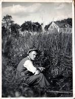 Photo Originale Sport & Loisirs, Portrait Du Pêcheur Petri-Heil Le 01.07.1934 à Rüdersdorf - Canne à Pêche Bambou - Sports