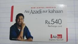 India-airtel Aisi Azadi Aur Kahaan(63)(rs.540)(new Delhi)(5013381546854912)(look Out Side)used Card+1 Card Prepiad Free - Inde