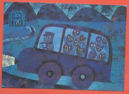 """""""Gatti In Autobus"""", Cats, Chats, Katzen: 2002 Mostra Di Illustrazione Per L' Infanzia; Non Viaggiato. - Cats"""