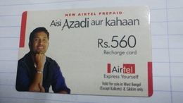 India-airtel Aisi Azadi Aur Kahaan(64)(rs.560)(new Delhi)(4335782320229924)(look Out Side)used Card+1 Card Prepiad Free - Inde