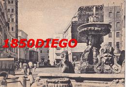 VELLETRI - PIAZZA CAIROLI E FONTANA  F/GRANDE VIAGGIATA  1955 ANIMATA - Velletri