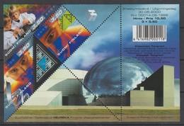 M 1087) Finnland 2000 Mi 1533-1535 Bl 24 **: Hologramm, Tangram Sierpinski Helix Mathematik Geometrie Spiel - Wissenschaften