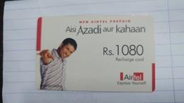 India-airtel Aisi Azadi Aur Kahaan(65)(rs.1080)(new Delhi)(5023394369397972)(look Out Side)used Card+1 Card Prepiad Free - India