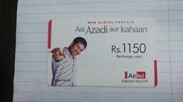 India-airtel Aisi Azadi Aur Kahaan(66)(rs.1150)(new Delhi)(0716381087898276)(look Out Side)used Card+1 Card Prepiad Free - India