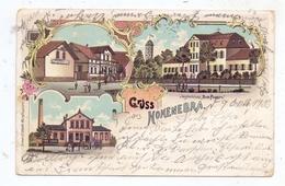 """0-5400 SONDERSHAUSEN - HOHENEBRA, Lithographie, Gasthaus, Tonwerk, Jagdschloss """"Zum Possen"""", Druckstelle - Sondershausen"""