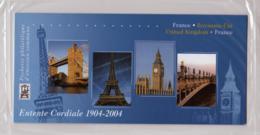 2004 Pochette Mixte N° P3657 Emission Commune France-Grande Bretagne Entente Cordiale - Souvenir Blocks