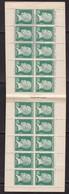PUBLICITE CARNET PASTEUR 10C VERT PUBLICITE SUR COUVERTURE CREDIT INDUSTRIEL ET AUTOMOBILE/ L'AIGLE  NEUF** - 1922-26 Pasteur