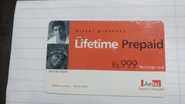 India-airtel Presents-(67)(rs.999)(new Delhi)(7905524361659691)(look Out Side)used Card+1 Card Prepiad Free - India