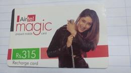 India-airtel Magic-(73)(rs.315)(new Delhi)(0273381283428014)(look Out Side)used Card+1 Card Prepiad Free - India