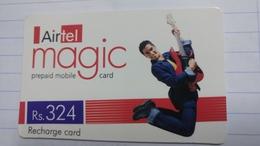 India-airtel Magic-(74)(rs.324)(new Delhi)(0297381390263038)(look Out Side)used Card+1 Card Prepiad Free - India