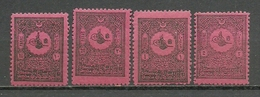 Turkey; 1901 Postage Due Stamps (Complete Set) - 1858-1921 Empire Ottoman