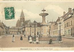 Clermont- La Place Et La Fontaine Massé-cpa - Clermont