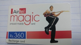 India-airtel Magic-(76)(rs.360)(new Delhi)(0331381557058557)(look Out Side)used Card+1 Card Prepiad Free - Indien