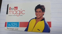 India-airtel Magic-(77)(rs.525)(new Delhi)(0293381588217856)(look Out Side)used Card+1 Card Prepiad Free - Indien